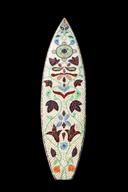 White mosaic surfboard