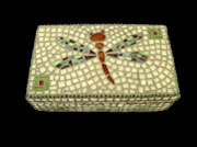 Dragonfly mosaic box